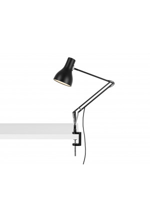 Anglepoise Type 75 Lamp with Desk Clamp schwarz