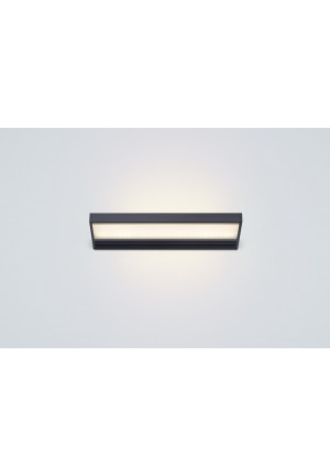 Serien Lighting SML2 Wall 300 Schwarz satinee / satinee