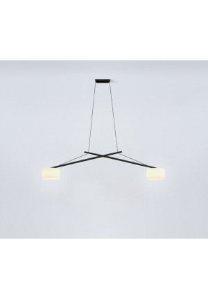 Serien Lighting Twin Arme schwarz mundgeblasenes Glas