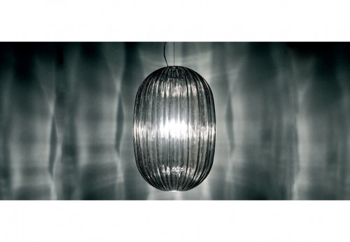 Foscarini Plass Media Sospensione grau