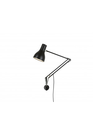Anglepoise Type 75 Lamp with Wall Bracket schwarz