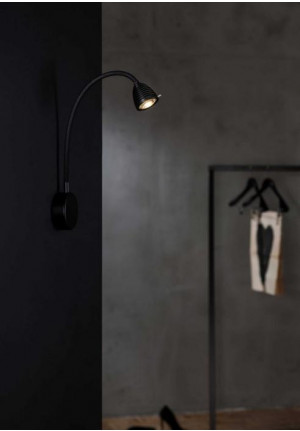 Less'n'more Athene Wall Light A-BWL2 black, flex arm textile black