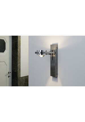 Licht im Raum Ocular Wall Lamp Low-voltage brushed stainless steel