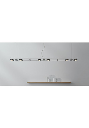 Licht im Raum Ocular 6 LED brushed stainless steel