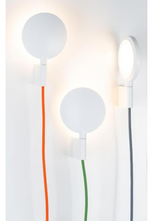 Mawa Maggy white, cable orange, green and grey