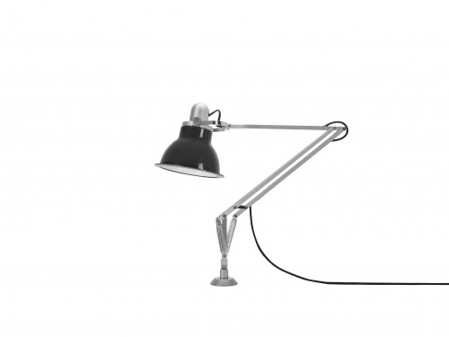 Anglepoise Type 1228 Lamp with Desk Insert grey switched off