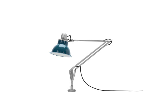 Anglepoise Type 1228 Lamp with Desk Insert blue switched off