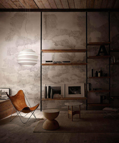 Foscarini Le Soleil Sospensione white on-switched