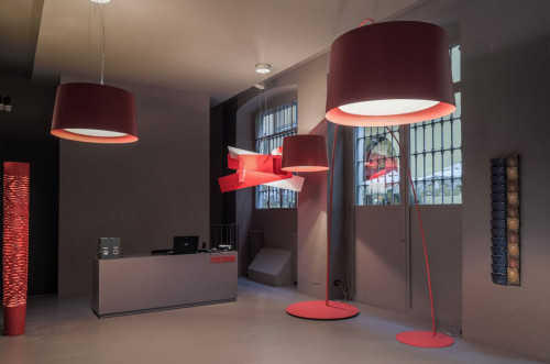 Foscarini Twice as Twiggy Sospensione and Terra crimsonred