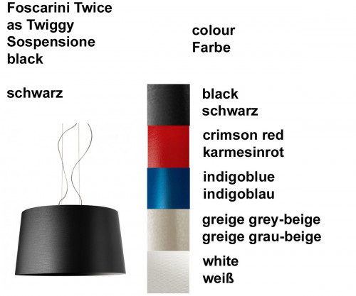 Foscarini Twice as Twiggy Sospensione colours