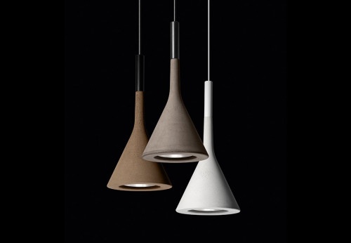 Foscarini Aplomb grey, brown and white round multi-canopy lighting 3
