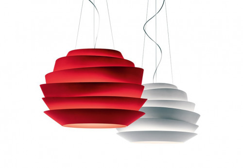 Foscarini Le Soleil Sospensione red and white