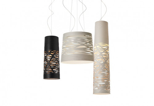 Foscarini Tress Piccola black, Grande and Media white