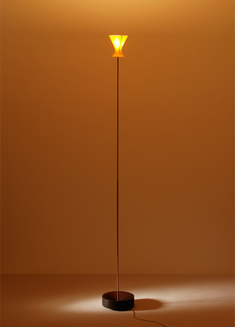 K-meral Sofi Floor Lamp base mahogany
