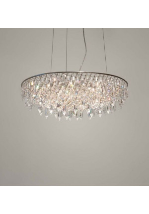 Anthologie Quartett Crystal Rain Pending Lamp round diameter 30 cm