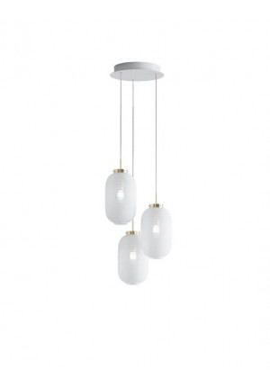 Bomma Lantern chandelier with 3 lamps clear