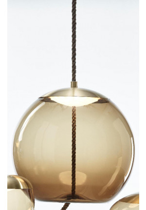 Brokis Knot Sfera smoke brown, reflector brass