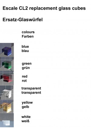 Escale CL2 replacement glass cubes colours