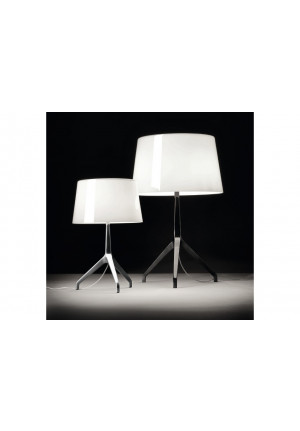 Foscarini Lumiere XXS white alu and XXL white chrome black