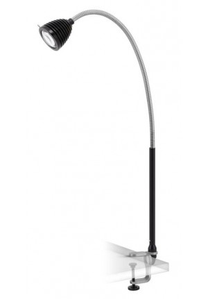 Less'n'more Athene Clamp Light large A-KL2 aluminum, flex arm textile black