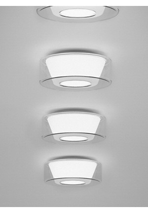 Serien Lighting Curling Ceiling LED clear/ conical opal