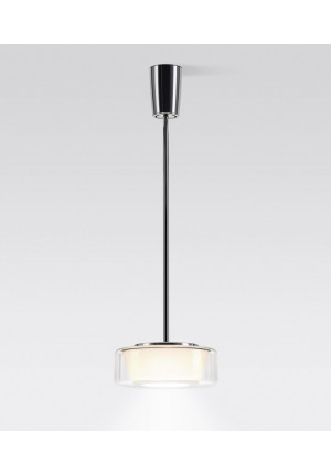 Serien Lighting Curling Suspension Tube LED clear/ conical opal