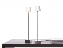 Cut Table lamp aluminum