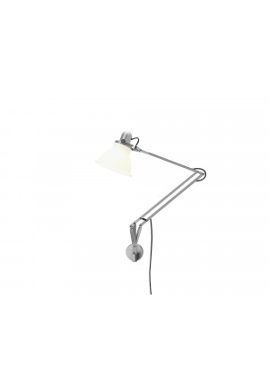 Anglepoise Type 1228 Lamp with Wall Bracket white switched on
