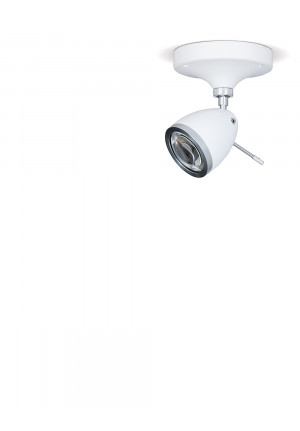 Less'n'more Ylux Wall / Ceiling Spotlight head white canopy white