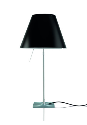Luceplan Costanza LED Table liquorice black