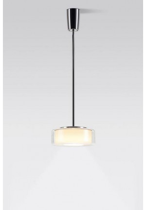 Serien Lighting Curling Suspension Tube LED clear/ cylindric opal