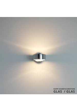 Top Light Puk Wall with glass top and bottom