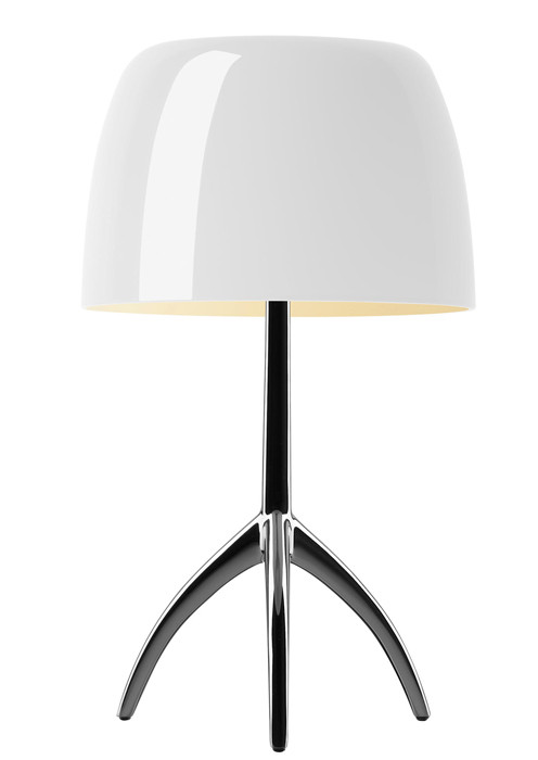 Foscarini Lumiere 05 Piccola warm white frame chrome black off-switched