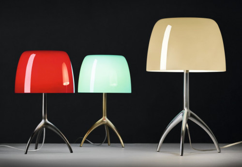 Foscarini Lumiere 05 Piccola cherry, turquoise and Grande warm white