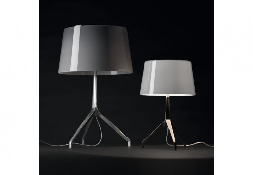 Foscarini Lumiere XXL cool grey alu and XXS white