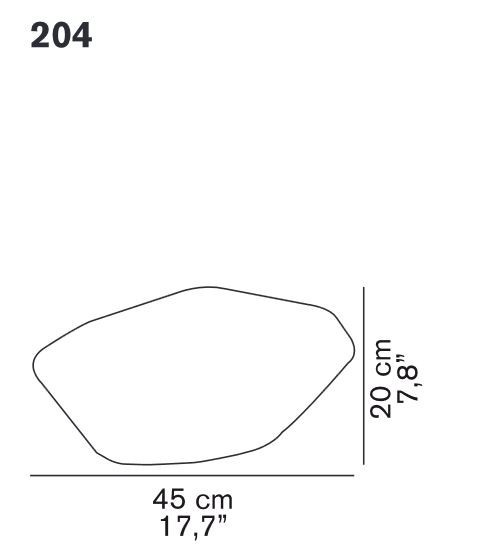 Oluce Stone of Glass 204 spare part
