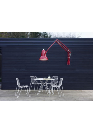 Anglepoise Original 1227 Giant Outdoor Lamp with Wall Bracket red