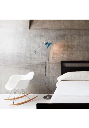 Anglepoise Type 1228 Floor Lamp grey switched on