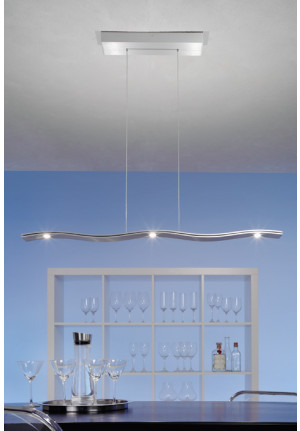 Escale Fluid pendant lamp 5-light brushed aluminum