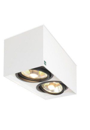 Mawa 111er square 2-lamps low-voltage white