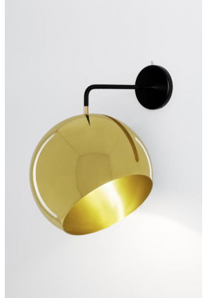 Nyta Tilt Globe Wall Brass without cable
