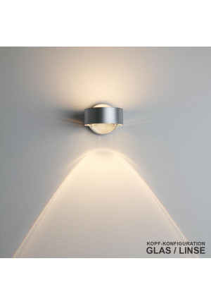 Top Light Puk Wall LED lens/glass chrome