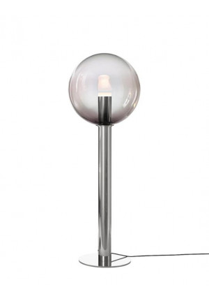 Bomma Phenomena Floor Large Ball nickel, glass colour smoke