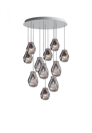 Bomma Soap chandelier with 11 lamps silver