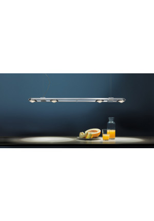 Licht im Raum Ocular 4 LED long brushed stainless steel