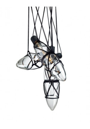 Bomma Shibari chandelier with 3 lamps