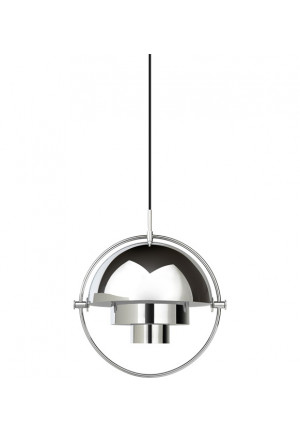GUBI Multi-Lite Pendant Chrome shade white