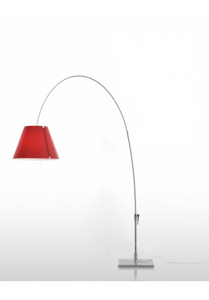 Luceplan Lady Costanza Floor Switch shade red frame alu